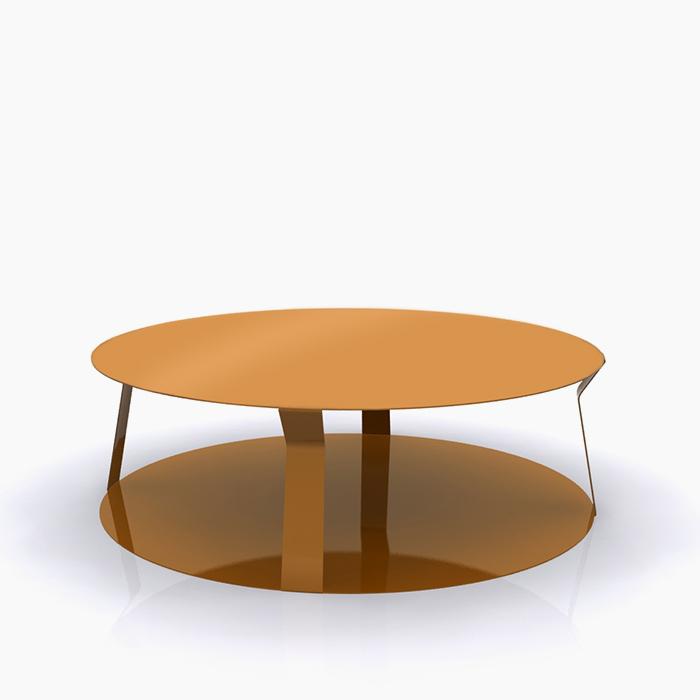 Round 3 Round Coffee Table Made Of Metal Cm ø80x23h