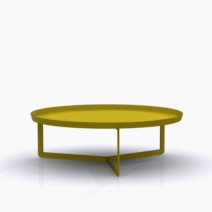Round 3 Round Coffee Table Made Of Metal Cm 80x23h