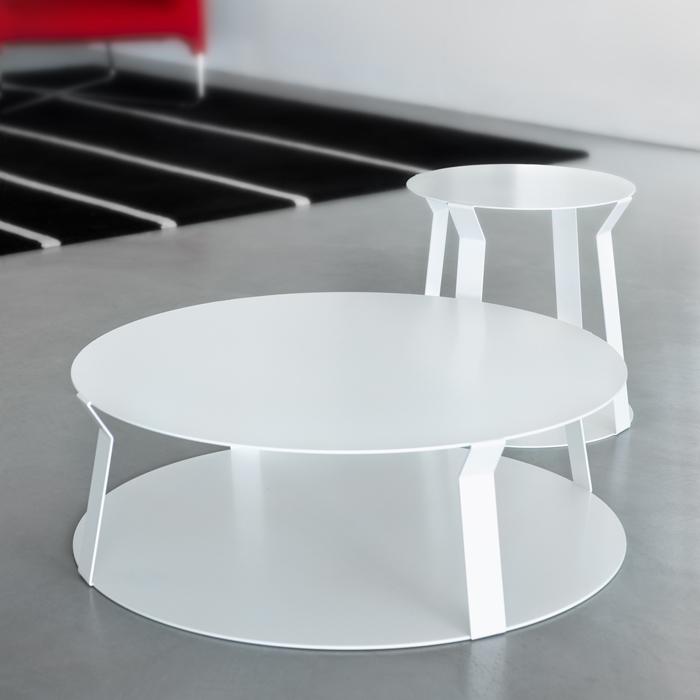 FREELINE 2 tavolino rotondo in metallo cm ø80x25h