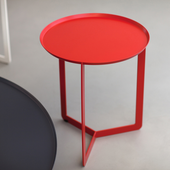 ROUND 1 round coffee table made of metal cm ø40x46h