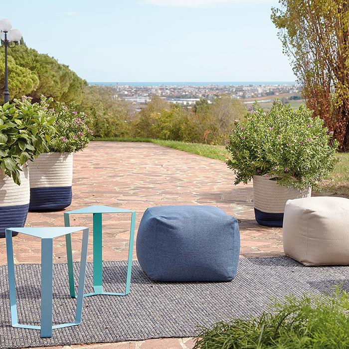 FINITY BIG outdoor metal coffee table cm 40 x 34 x 47h