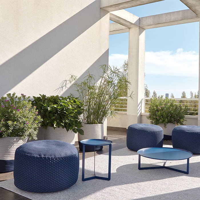 ROUND 3 OUTDOOR metal coffee table cm ø 80x23h
