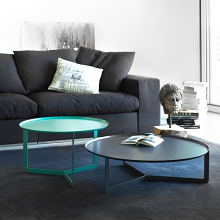 ROUND 2 round coffee table made of metal cm ø60x36h