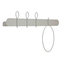 BALLOON 90 B shelf with coat hangers cm 90x12x52h