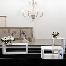 OFFSET 2 tavolino in metallo cm 60x60x27h