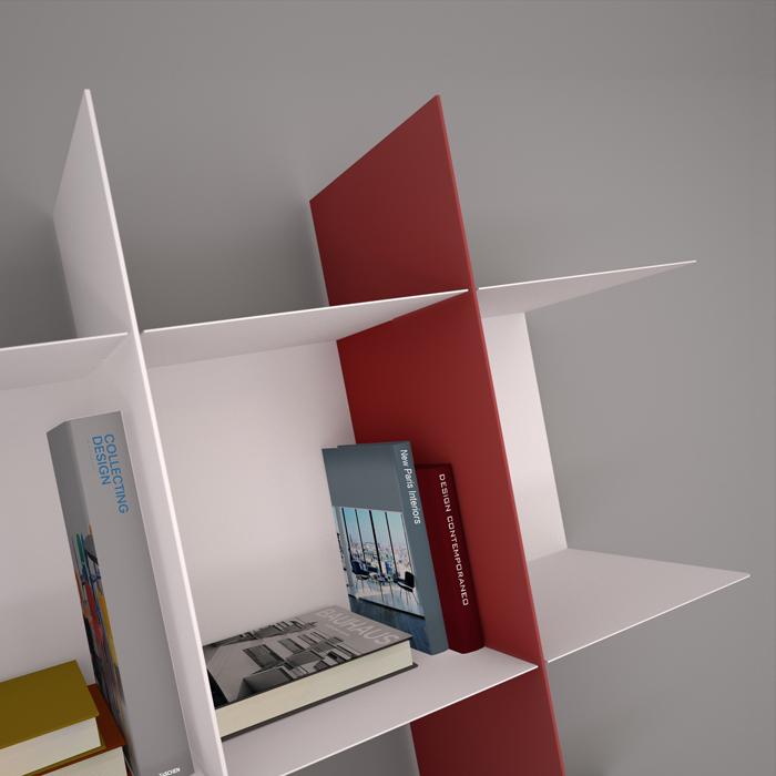 Librerie In Metallo Componibili.Innesto Modulo A C Per Libreria Componibile In Metallo