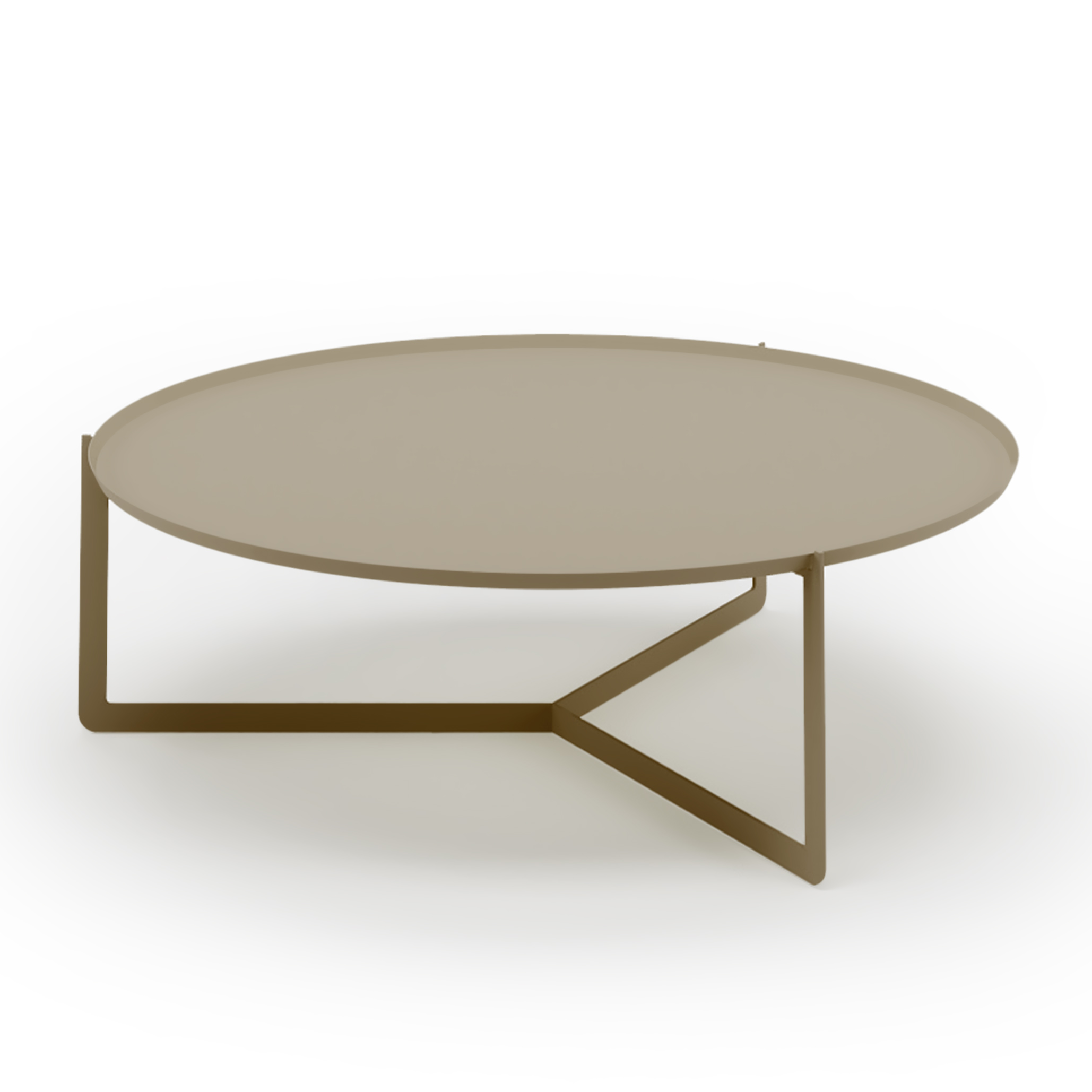 ROUND 5 coffee table made of metal cm ø95x31h