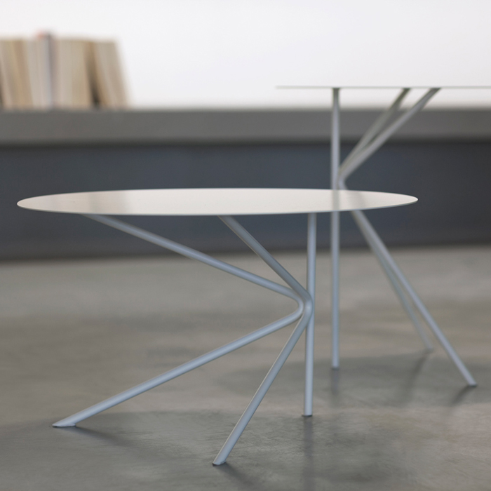 Twin B round coffee table made of metal cm ø60x35h