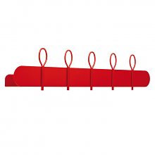 BALLOON 90 A shelf and coat hanger cm 90x12x18h