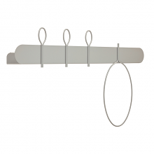 BALLOON 90 B shelf with coat hangers cm 90x12x52h