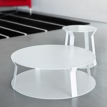 FREELINE 2 round coffee table made of metal cm ø80x25h