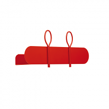 BALLOON 45 A shelf and coat hanger cm 45x12x18h