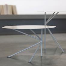 Twin B round coffee table made of metal cm ø60x35h