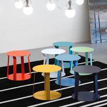 FREELINE 1 round coffee table made of metal cm ø40x40h